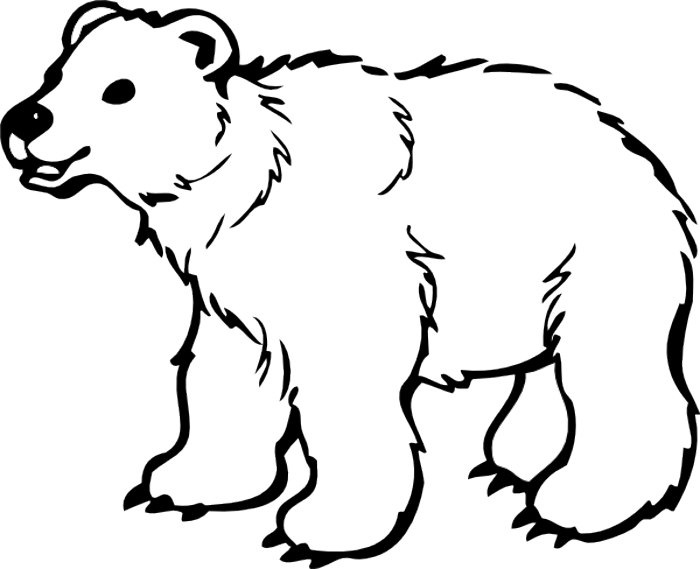 Bears clipart black and white, Bears black and white.