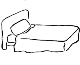 Bed Clipart Black And White.