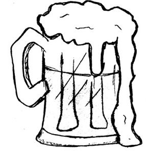 Beer Clip Art Black And White.