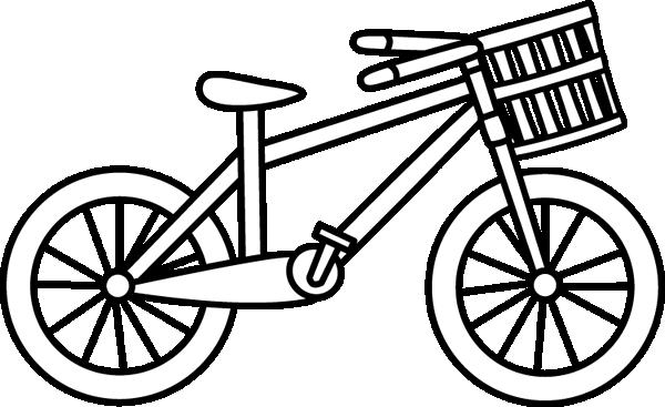 Bike clipart black and white, Bike black and white.