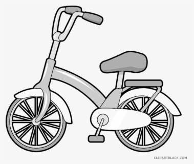 Free Bike Black And White Clip Art with No Background.