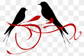 Free PNG Love Bird Clipart Black And White Clip Art Download.