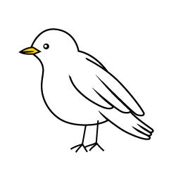 Green Little Bird Clipart Free Picture|Illustoon.