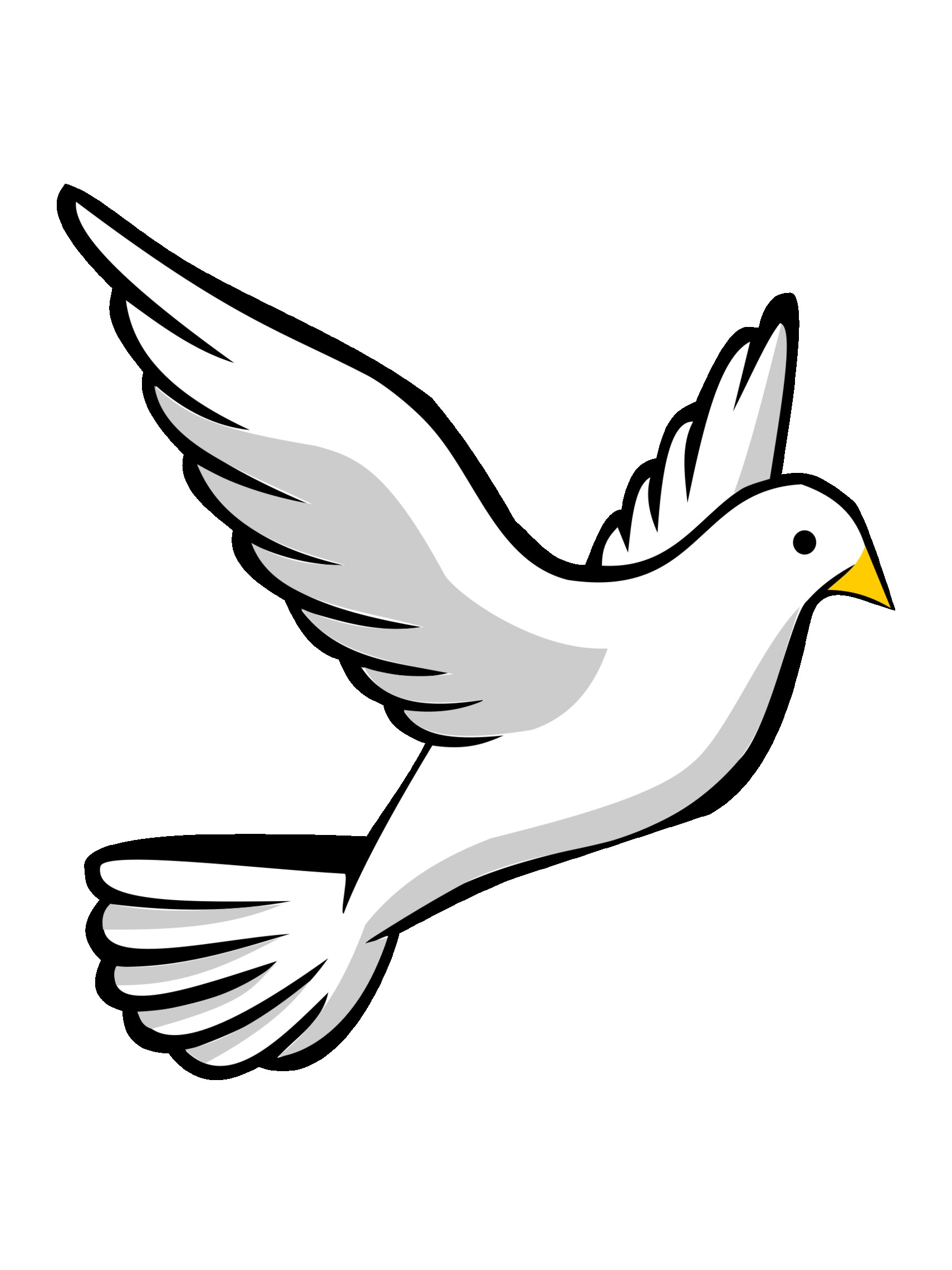With Clipart Of Birds Black And White Bird Goose 17709733 Cartoon.