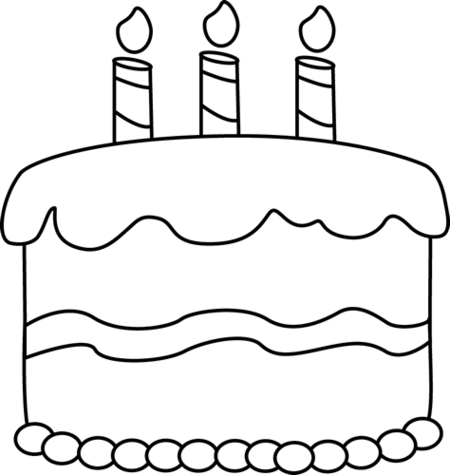 Cake Black And White Clipart.