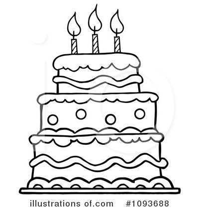 Birthday cake clip art black and white pictures images and.