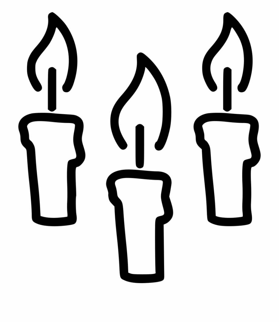 Free Birthday Candle Clipart Black And White, Download Free.