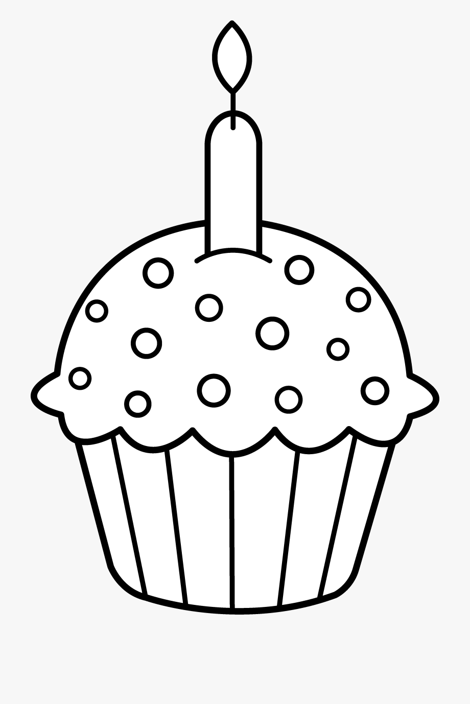 Birthday Candles Clipart Black And White.