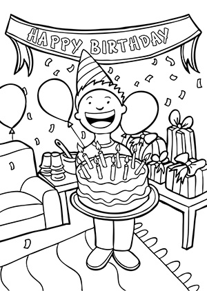 Happy birthday black and white and white birthday clipart 2.