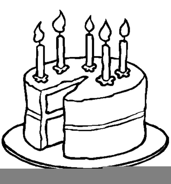 Black White Birthday Candle Clipart.