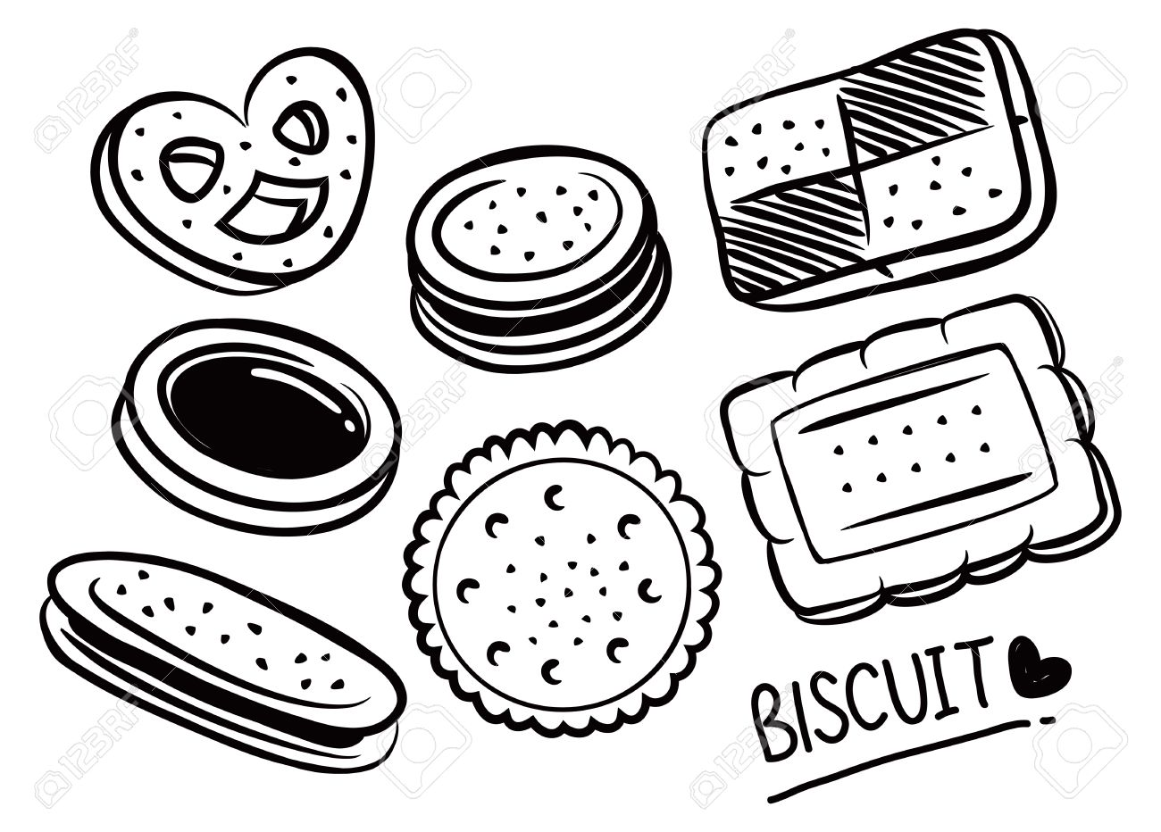 Biscuit clipart black and white 1 » Clipart Station.