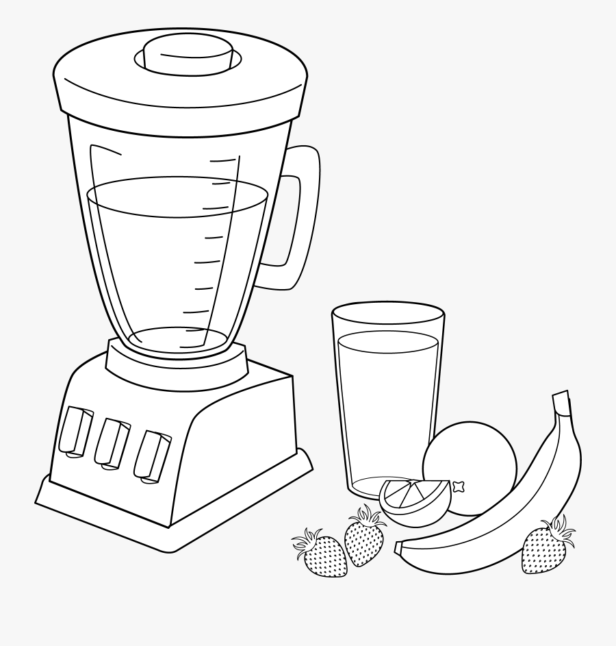 Smoothie Clipart Black And White.