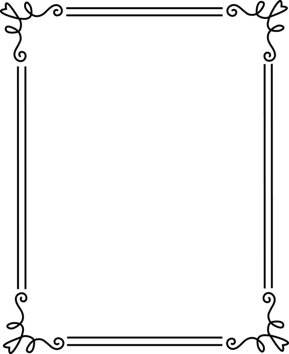Simple Border Clipart Black And White.