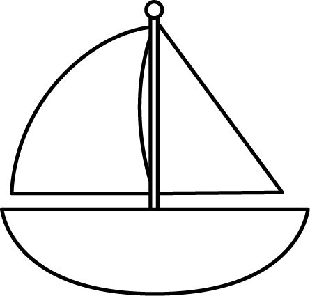 Black And White Clipart Boat.