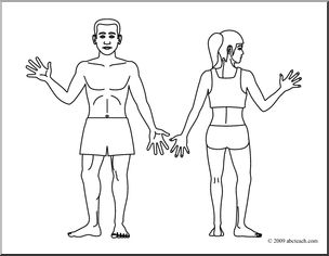 Body Clipart Black And White.