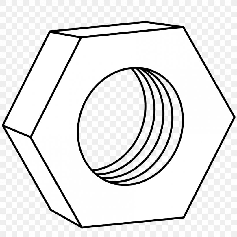 Nut Bolt Clip Art, PNG, 900x900px, Nut, Area, Black And.