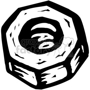 black and white bolt clipart. Royalty.