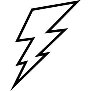 Lighting Bolt Black And White.