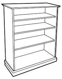 Image result for black and white clip art of a shelf.
