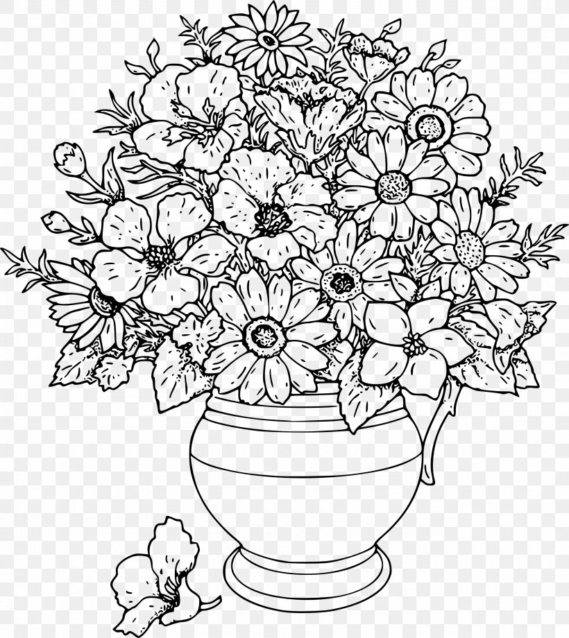 Flower Bouquet Drawing Clip Art, PNG, 2555x2869px, Flower.