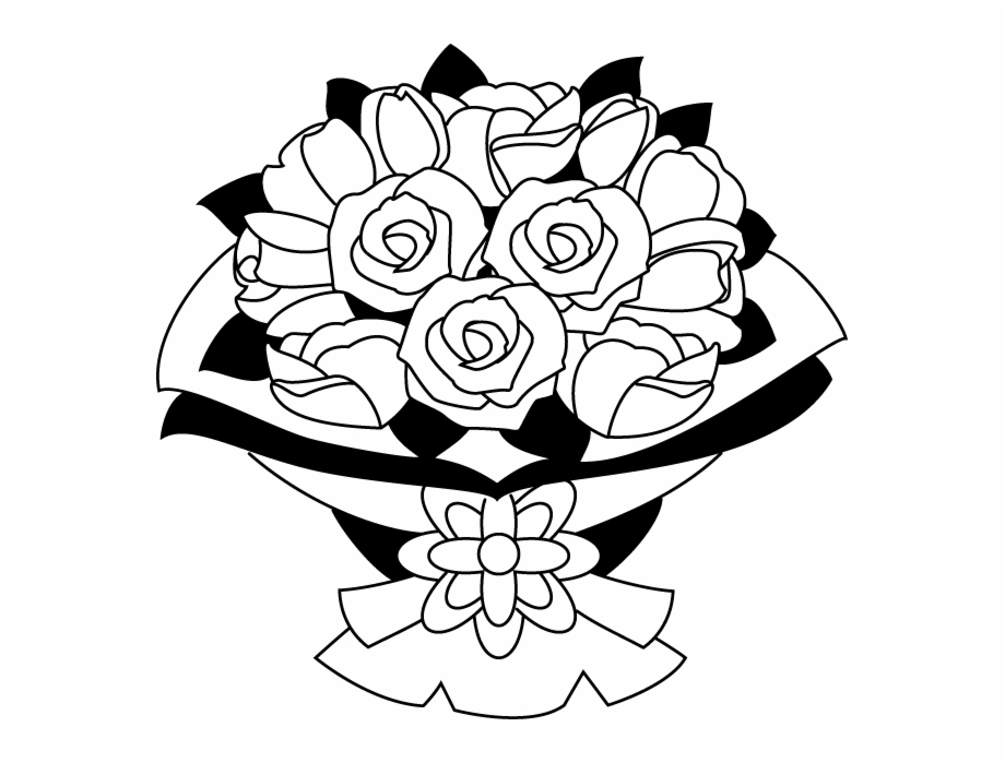 Free Flower Bouquet Clipart Black And White, Download Free.