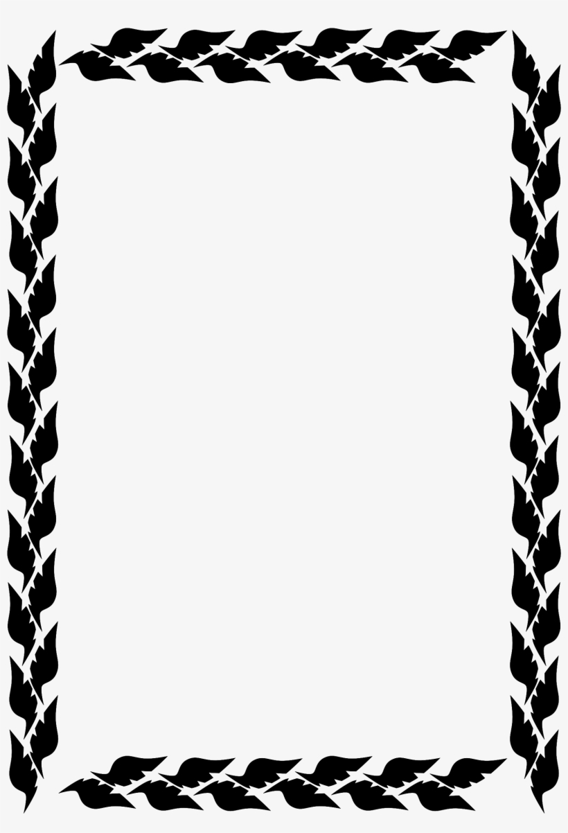 Png Free Download Black And White Border Clipart.