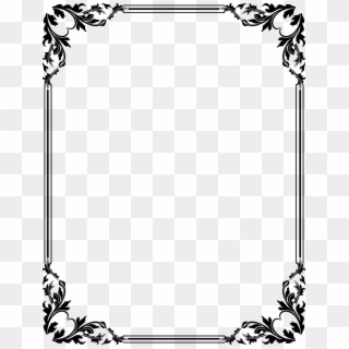 Flower Designs Black And White Border PNG Images, Free Transparent.
