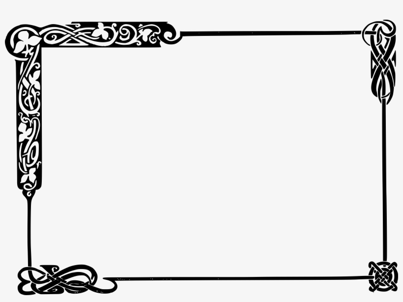 28 Collection Of Frame Clipart Black And White Png.