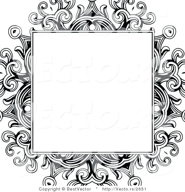 Floral Border Designs Black And White Cross Stitch Pattern Free Png.