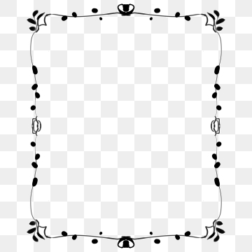 Black And White Border PNG Images.