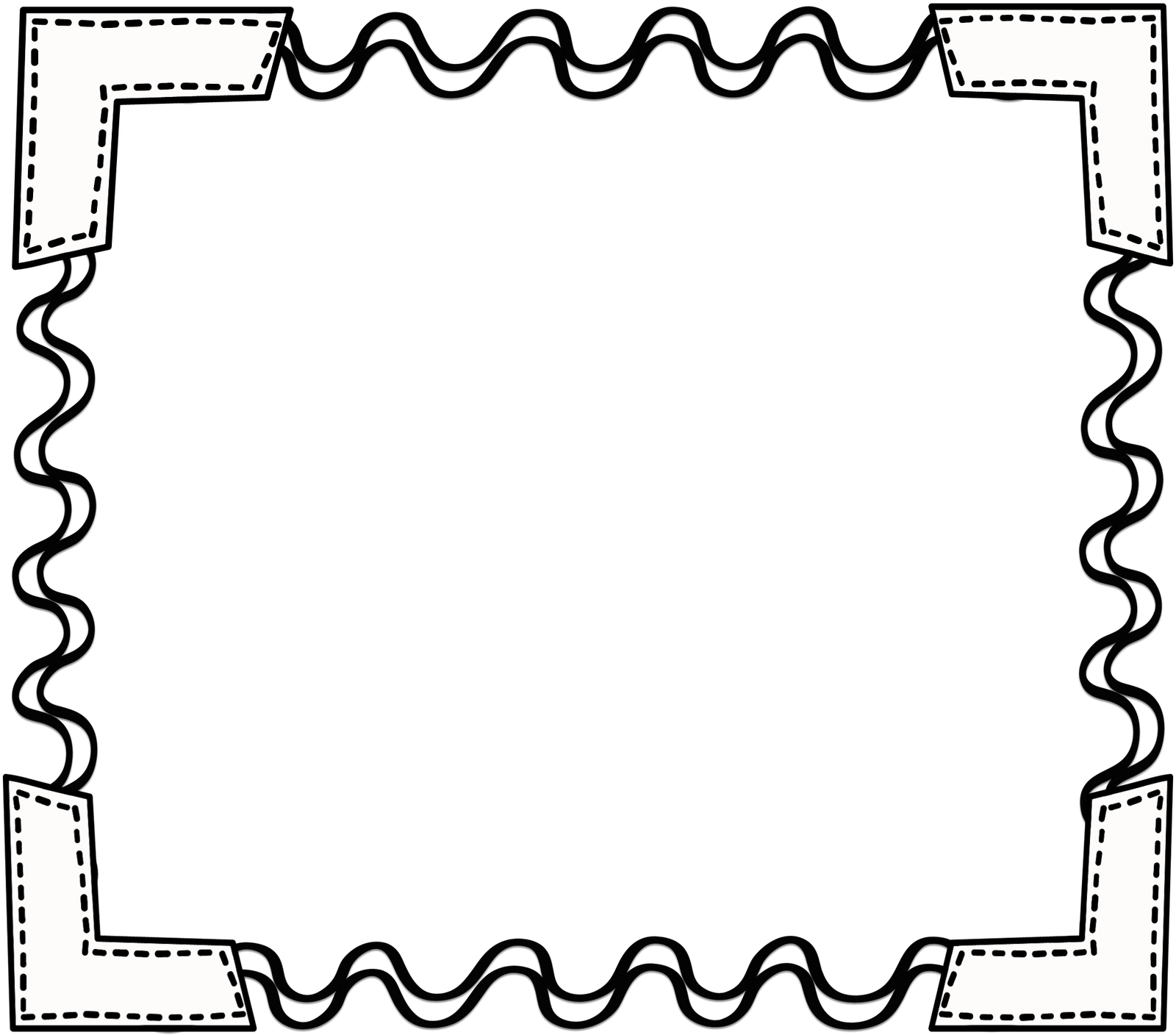 School Frame Clipart Black And White.