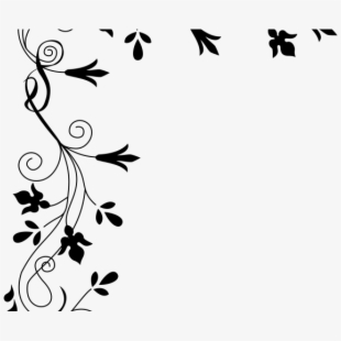 Free Flowers Clipart Black And White Border Cliparts, Silhouettes.