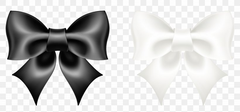 Black And White Bow Tie, PNG, 6104x2853px, Ribbon, Black.