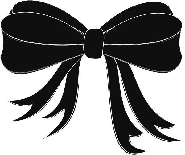 Black Bow Ribbon Clip Art at Clker.com.