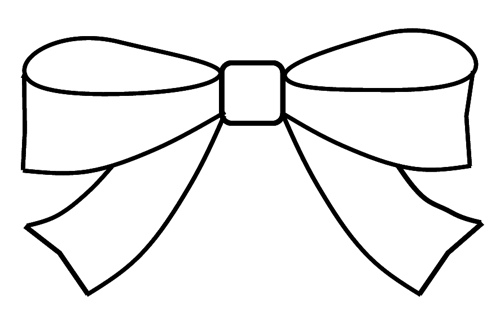 Free Bow Clipart Black And White, Download Free Clip Art.