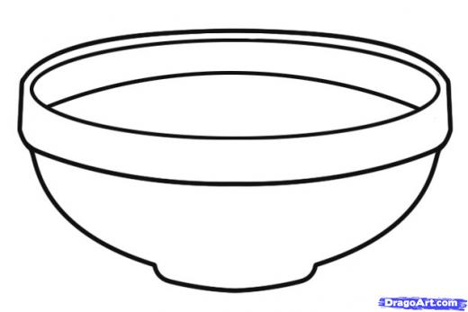 Bowl clipart black and white 6 » Clipart Station.