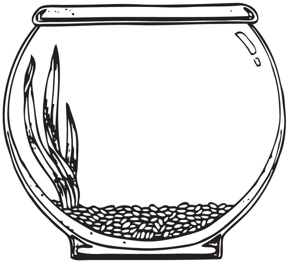 Use the form below to delete this Fish Bowl Clip Art Black.