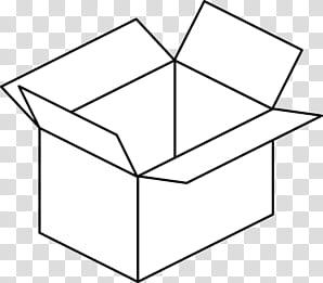 RNDOM, white box illustration transparent background PNG.