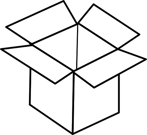 Moving Boxes Clipart Black And White.