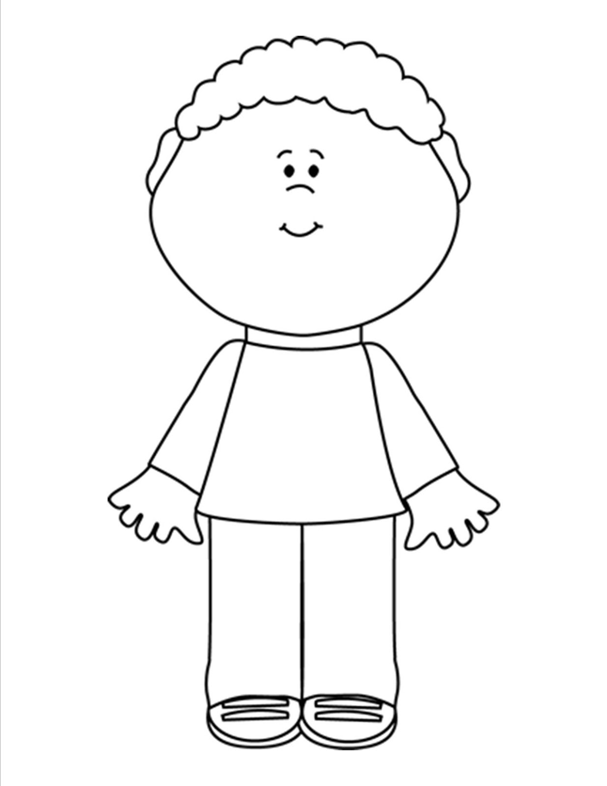 Boy Clipart Images Black And White.