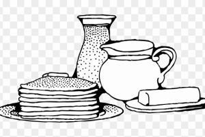 Eat breakfast clipart black and white 2 » Clipart Portal.