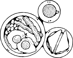 Breakfast clipart black and white 4 » Clipart Station.