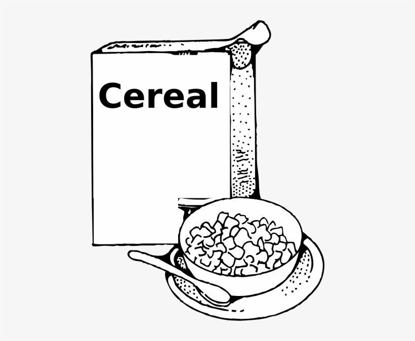 Breakfast Clipart Black And White.