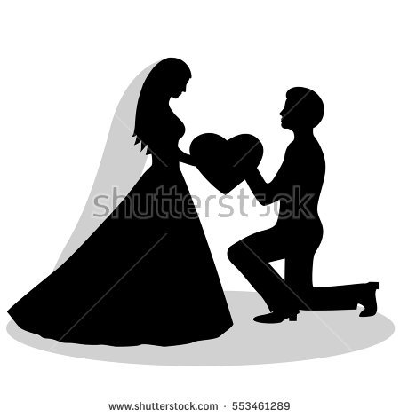 Bride and groom clipart black and white 12 » Clipart Station.