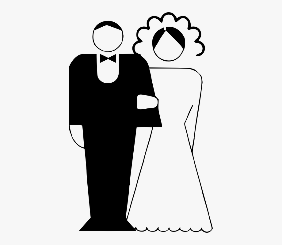 Couple Married Black And White Bride Groom.
