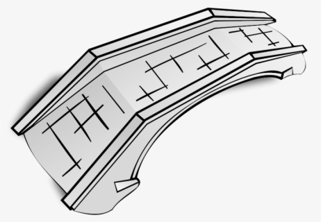 Free Bridge Black And White Clip Art with No Background.