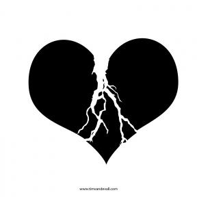 Broken Heart Clipart Transparent.