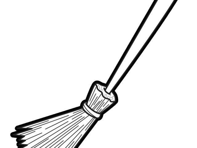 Broom clipart outline, Broom outline Transparent FREE for.