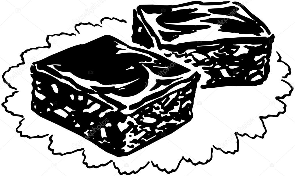 Brownie clipart black and white Transparent pictures on F.