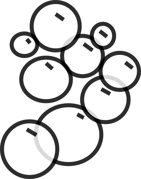 Free Bubbles Clipart Black And White, Download Free Clip Art.